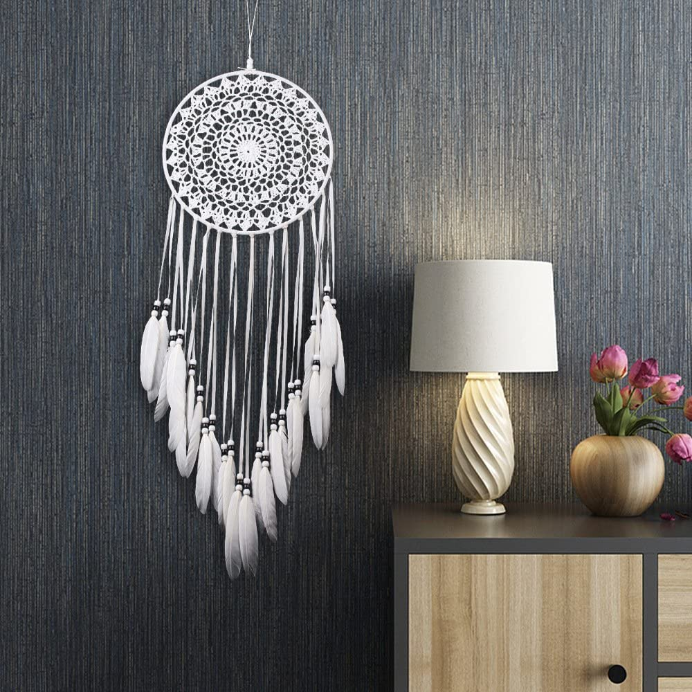 Large Handmade Dream Catcher Feathers Hanging Dreamcatcher Home Decor Hanging