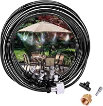 Cairondin Outdoor Misting Cooling System, 26.2ft Misting Line(1/4