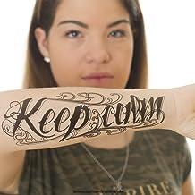 1 x Keep calm Tattoo Schriftzug in schwarz - Fake temporäre