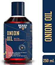 Beardhood Onion Oil with Redensyl for Hair Growth and Anti Hairfall - 20% Red Onion Extract with 14 carrier and essential oils, Mineral Oil & Paraben Free, 250ml