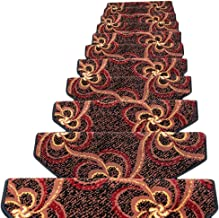 JIAJUAN Stair Carpet Treads Non-Slip Indoor Self Adhesive Treads Large Rugs Mats, 14 Mm, 6 Styles, 5 Sizes (Color : B-1 pc...