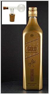 Flasche Johnnie Walker Gold Label Scotch Whisky  Glaskugelportionierer
