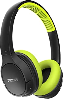 Philips Audio ActionFit SH402LF Wireless Bluetooth Headphones with Splash-Resistance and Cooling Earcups, Fits All
