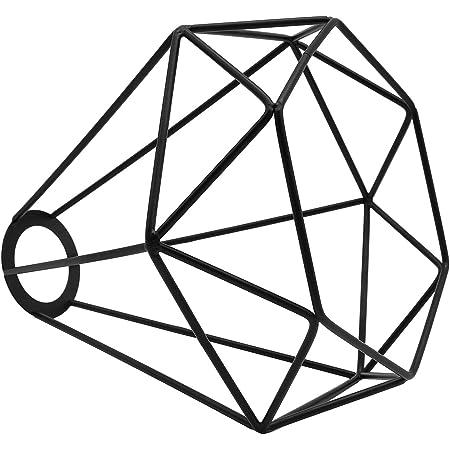 Motent vintage industriel en métal Noir diamant Cage Abat-jour Lustre 20,8 cm de diamètre plafond Pendentif à suspendre Lot de Luminaire pour hôtel Boutique de Stage, E27 40.00 wattsW 220.00 voltsV