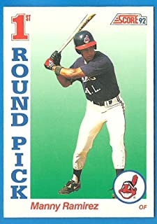 1992 Score MANNY RAMIREZ Rookie Baseball Card #800 - Indians Red Sox A's - F