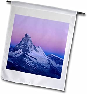 3dRose fl_82655_1 Matterhorn, Mountains, Swiss Alps, Switzerland-Eu29 Rnu0034-Rolf Nussbaumer Garden Flag, 12 by 18-Inch