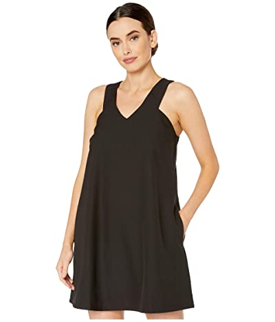 American Rose Hailey V-Neck Racerback Dress (Black) Women
