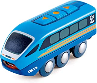 Hape Remote Control Engine Train | Kids Railway Toy, App or Button RC Vehicle with 5 Playable Sounds, Rechargeable Battery...