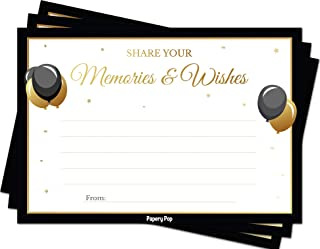 Share your Memories and Wishes (50 Cards Pack) - Any Occasion - Graduation Retirement Birthday Party Games Ideas Activities Supplies for Adults - Gender Neutral