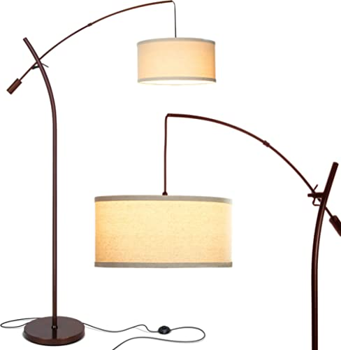 Brightech Grayson - Modern Arc Floor Lamp for Living Room - Contemporary, Tall LED Light Reaching from Behind The Cou...
