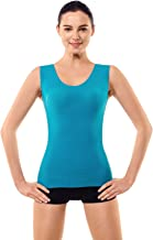 +MD Super Soft Light Control Body Shapewear Tank Top for Women Bamboo Seamless Slimming Shaping Shirts V-Neck Camisole
