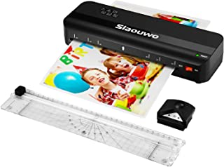 Laminator Machine, Slaouwo A4 Thermal Laminator Machine with 30 Laminating Sheets, 4 in 1 Portable Laminator with Paper Tr...