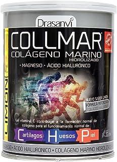 COLLMAR Colágeno Marino Hidrolizado con Magnesio. Ácido Hialurónico y Vitamina C 300 g Sabor Limón Polvo