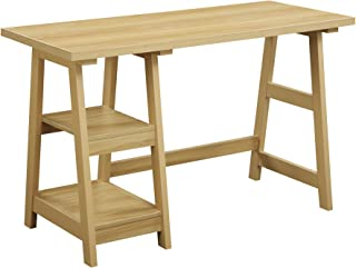 Convenience Concepts Designs2Go Trestle Desk, Light Oak