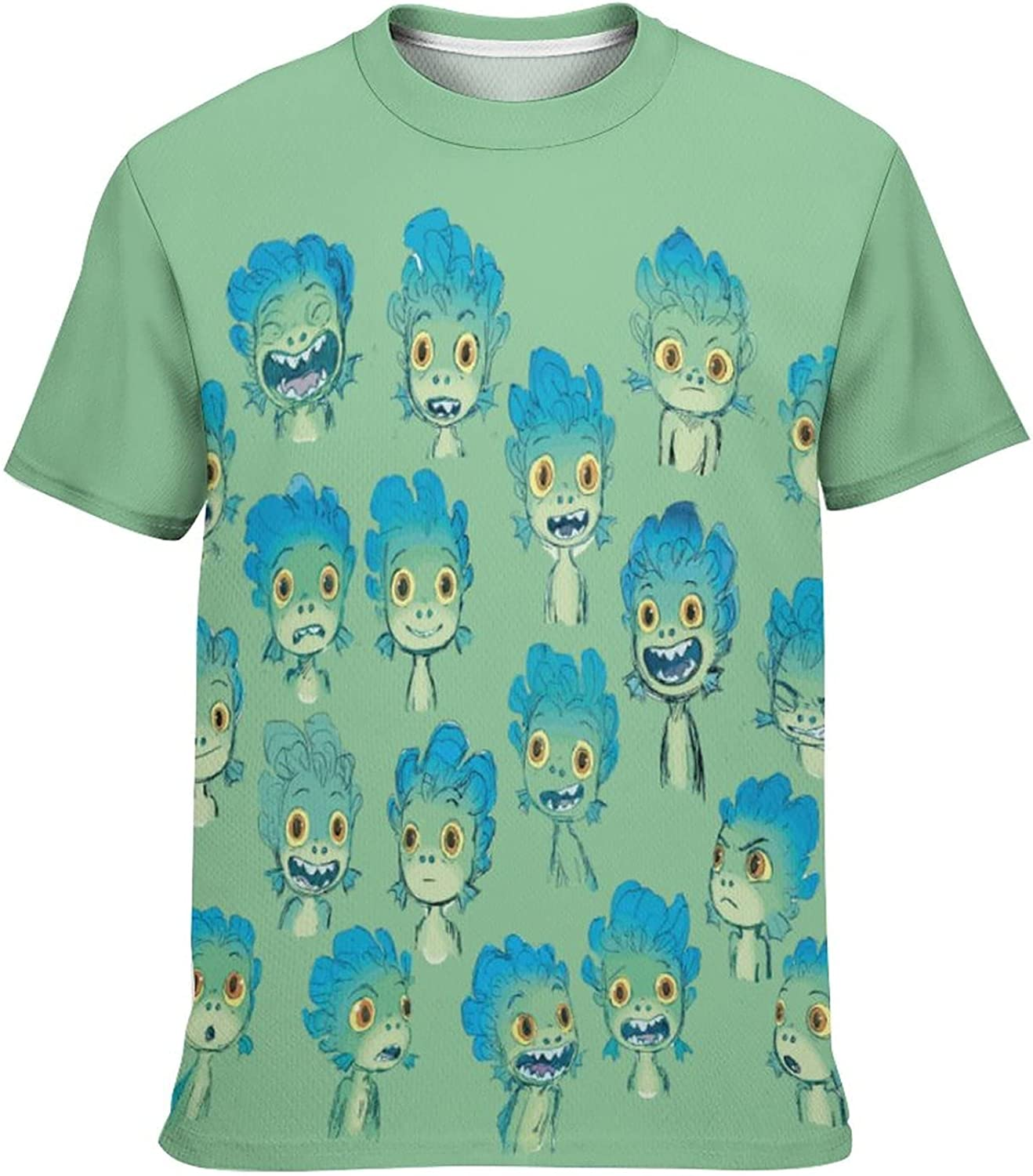 Kid's Novelty Graphic Round Neck Short Sleeve T-Shirt Cozy Trendy Tee Shirts Tops for Boys XS