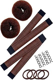 Hawwwy 12-piece Hair Bun Maker, Easy & Fast Small Bun Tool Best Sellers Kit Short or Thin Hair Women Girls Kids Toddler Pe...