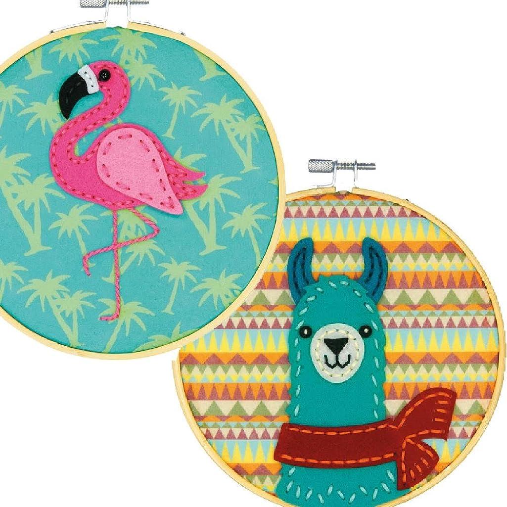 Dimensions Felt Decor Applique Kit Bundle: Llama & Flamingo
