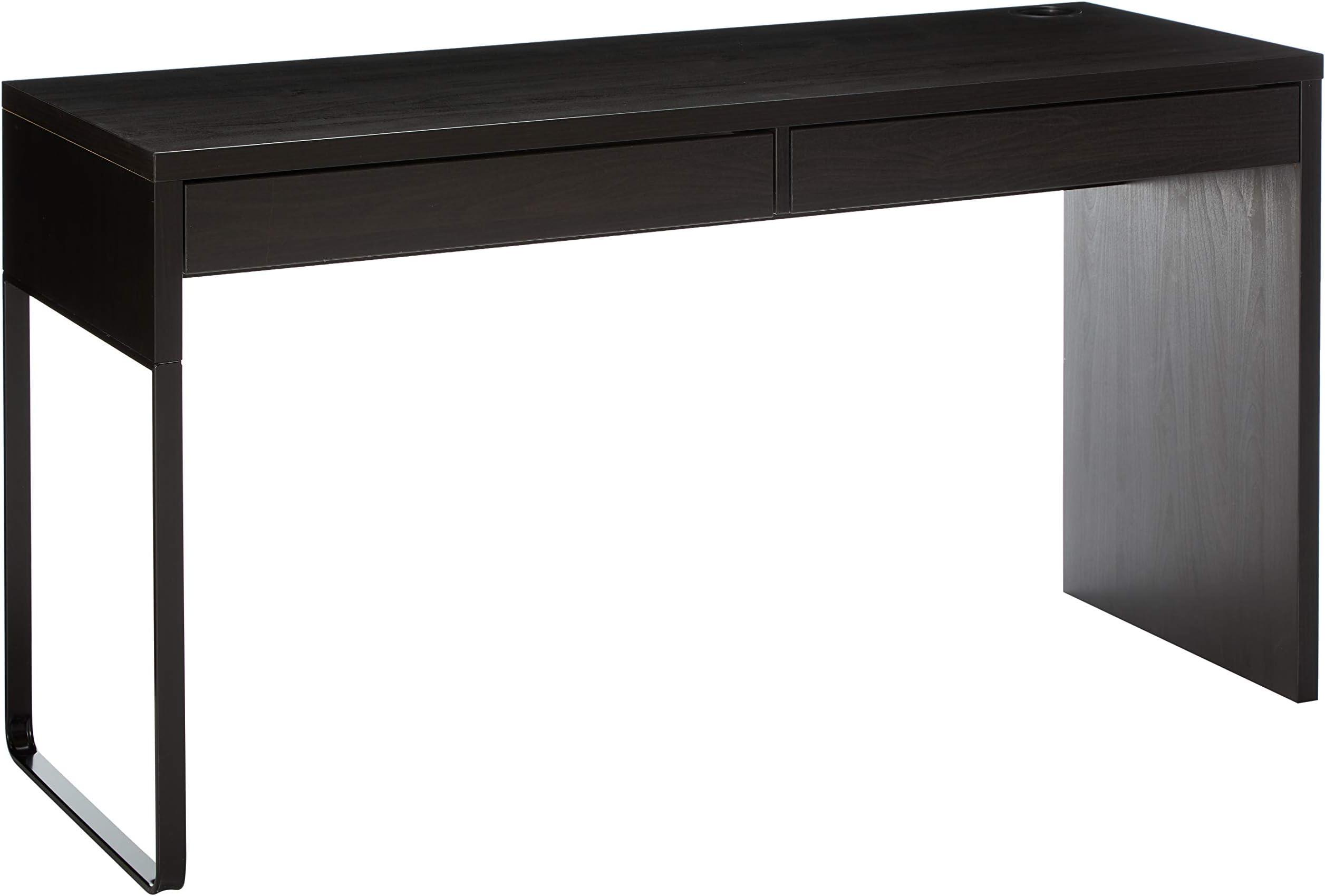 Amazon Com Ikea Micke Desk Black Brown Furniture Decor