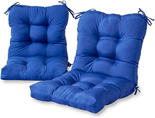 Greendale Home Fashions Outdoor Seat/Back Chair Cushion (set of 2), Marine