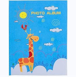 WLC Kids Unicorn Photo Album 4x6,Photo Album 100 Photos,Photo Album for Kids Girl,Blue giriffe for Kids