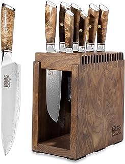 Ensemble De Couteaux De Cuisine, Ensemble De 8 Couteaux, VG10 Acier Damas 67 Couche Acier Couteaux De Cuisine Dureté 62 HR...