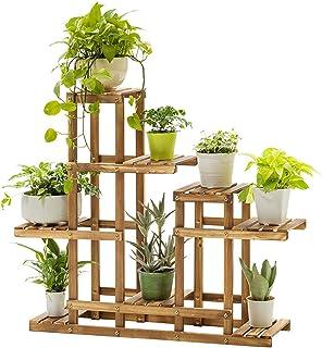 U-HOOME Plant Stand Wooden Shelf Tiered Flower Rack Holder Planter Pots Shelves Display Multiple Plants Succulents Indoor ...