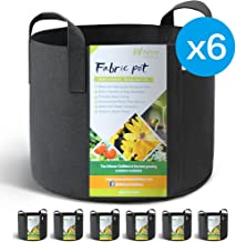WINNER OUTFITTERS 6-Pack 3 Gallon Grow Bags/Aeration Fabric Pots with Handles