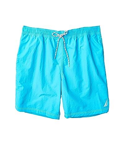 Nautica Big & Tall Big Tall Solid Swimwear (Blue) Men