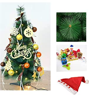 DECORATIVE BUCKETS Artificial Christmas Tree Combo And Assorted Christmas Tree Decoration Ornaments And Cap (Multicolour, ...