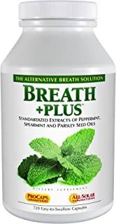 Andrew Lessman Breath Plus 60 Softgels – Natural Breath Freshener, Helps Eliminate Odors from Food, Smoking, Morning Breat...