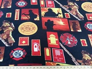 Fire Fighter Fleece Fabric 474