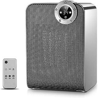 XCXC Calefactor, Ajustable 1800W / 900W con Control Remoto Eléctrico Personal Extintor El Exceso De Calor Y Oficina For La Protección De Inclinación Y Uso En El Hogar