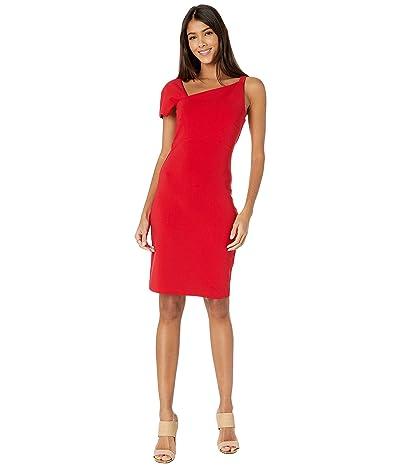 Nicole Miller Heavy Jersey One Shoulder Mini Dress (Cherry Red) Women