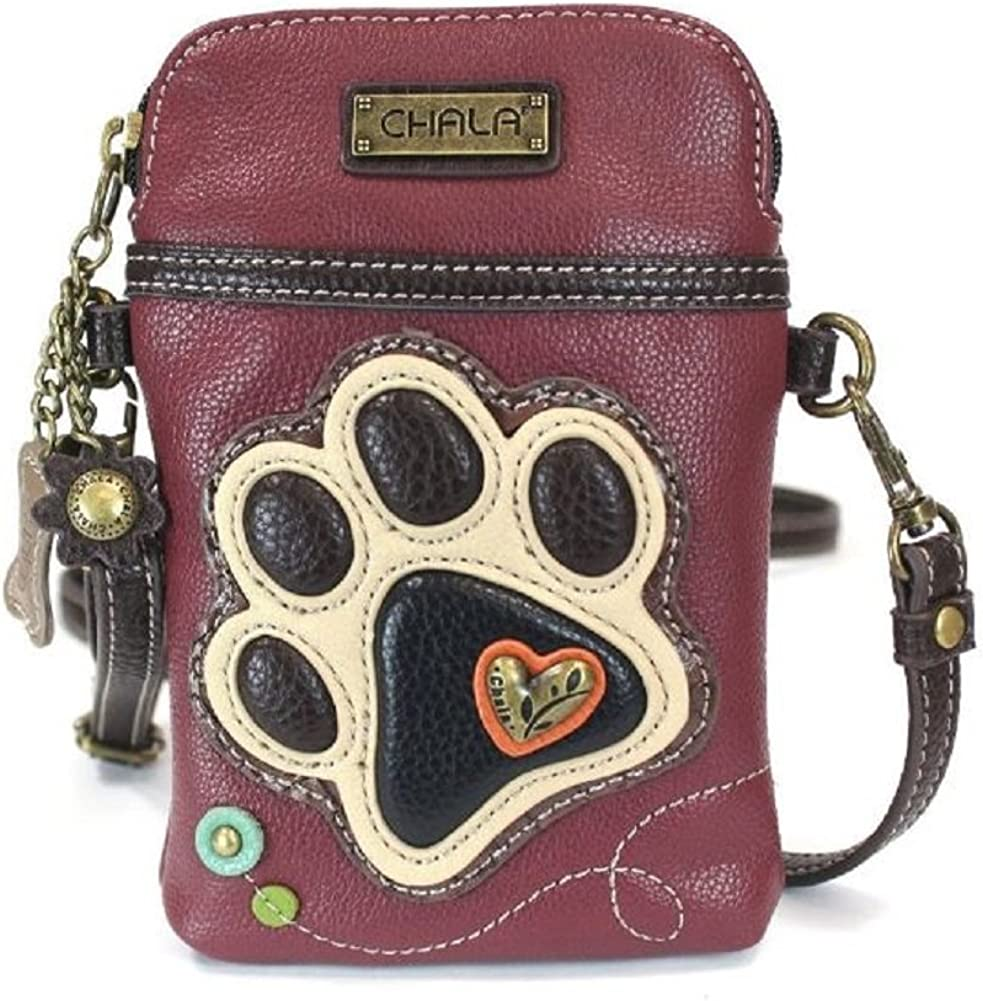 Charming In a popularity Chala Raleigh Mall Playful Paw Print Phone Purse Mini Crossbody Cell