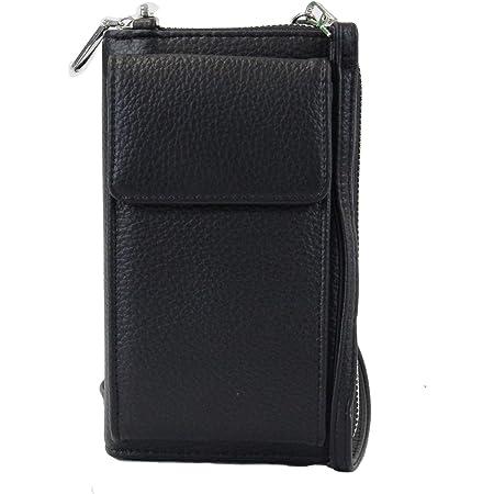 irisaa Kleine Handy Umhängetasche, Geldbörse Damen Brieftasche RFID Schutz Crossbody Handytasche Reisepass mit Kartenfächern und Verstellbarem Schultergurt