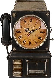 Out of the blue Porte-clés en métal, téléphone avec Horloge, Multicolore, env. 26 x 35,5 cm.