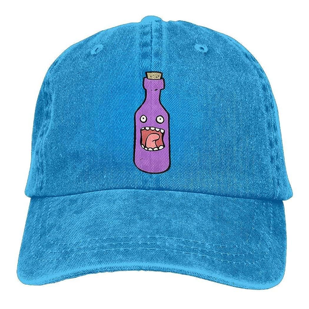 一緒に住居裁判所野球のジーンズキャップ漫画紫ワインボトルユニセックススナップバックキャップ洗浄デニムキャップ