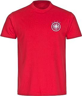 Camiseta para hombre, diseño retro de águila, color negro, talla S – 5XL – Camiseta para aficionados de fútbol, Eurocopa del mundial de Alemania