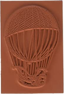 Deep Red Stamps Airship Rubber Stamp