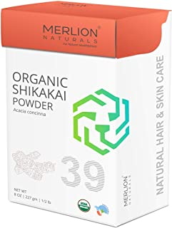 Organic Shikakai Powder by Merlion Naturals   Acacia concinna   227gm/ 8OZ/ 1/2lb   USDA NOP Certified 100% Organic