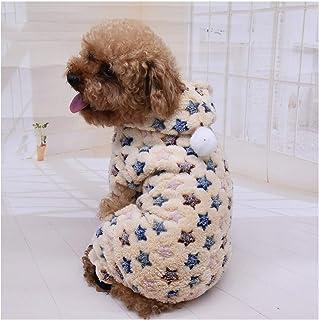 Lindo perro ropa mono cálido invierno cachorro gato abrigo traje ropa para mascotas traje para perros pequeños medianos ga...