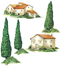 Wallies 12235 Tuscan Houses and Trees Wallpaper Cutout