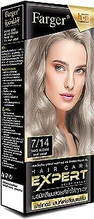 FAREGER X2 Pcs HAIR CARE EXPERT COLOR CREAM 7/14 SAND BLOND Hair Color Permanent Hair Color Dye Beautiful Hair Coloring Ex...