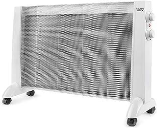 Taurus PRMB 2400 2400-Radiador de Mica, W, 3 temperaturas, termostato Regulable, Ruedas, protección Anti Calentamiento, silencioso, Blanco, Acero