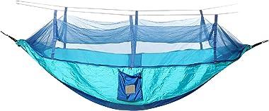 Hamac De Camping Tente De Moustiquaire De Hamac Suspendue Lit De Couchage Léger Camping Pour Camping Randonnée Sac à Dos (Siz