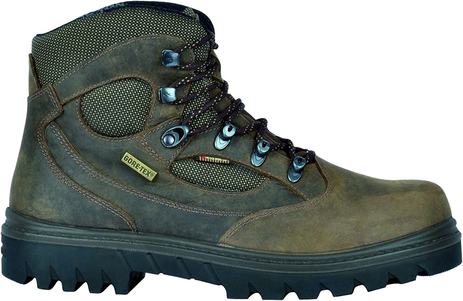 Cofra San Cristobal Brown Grain Leather Gore-Tex S3 Safety Steel Toe Boots WR HRO SRC