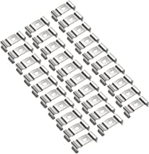 uxcell 30 Pcs T4 T5 U Clips Holder Led Tube Lamp Bracket Nickel-plated Manganese Steel Lampholder Support