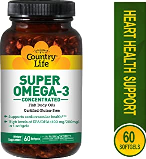 Country Life Super Omega-3, 60-Count