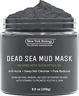 Best New York Biology Dead Sea Mud Mask for Face and Body Infused with Eucalyptus - Spa Quality Pore Reducer for Acne, Blackheads and Oily Skin - Tightens Skin for A Healthier Complexion - 8.8 oz Review