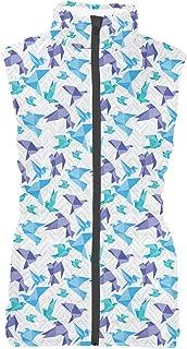 Rainbow Rules Origami Birds Mens Puffer Vest Bodywarmer Gilet